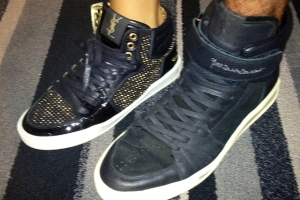 His and Her's YSL high tops: Travis and my penchant for designer sneakers