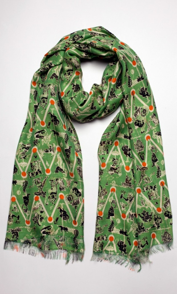 The New York Collection: a Cullen Meyer-designed men's scarf in their Tigerlily print