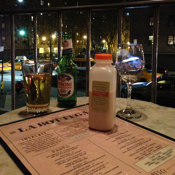 An Into The Gloss Editor's night out on a juice cleanse. Relating to this really sucks.