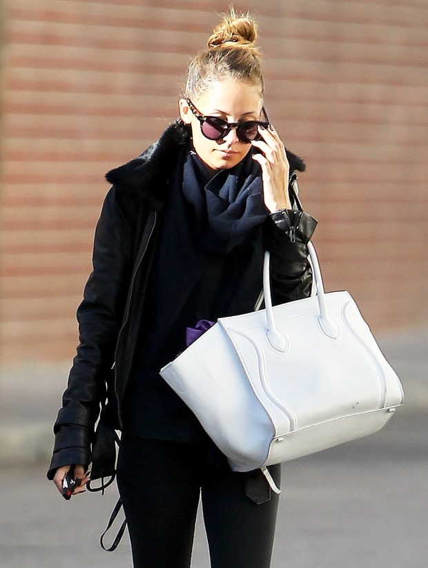 Lust after Nicole Richie's gorgeous white Celine bag in any season.