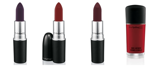 Lipsticks from left to right: Gunner, Stunner and Runner; Nail Polish in Flaming Rose