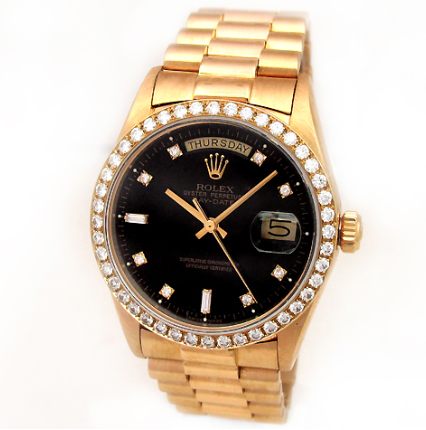 My ultimate dream Menswear pick, the Rolex. This one from invaluable.com even has diamonds to mark each hour. Swoon.