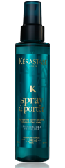 "When Kérastase PARIS introduced their first ever styling range two years ago with the iconically chamelon-like and every stunning Kate Moss fronting the ad campaigns, salons and stylists alike went into a frenzy, scooping up as many products from the collection as they could. To date, their Spray à Porter has emerged as one of the stars of the line (but let's face it: the entire collection truly delivers incredible results). Bumping other salt sprays from their cult favourite status, this divinely-scented and super fine, light mist creates the perfect tousled effect with zero stickiness, heaviness or residue, which revolutionized the ""ocean spray"" product category entirely. Beautifully undone texture is achieved, and flexible hold means the style lasts all day (and night!) long. Thanks, Ms. Moss!"